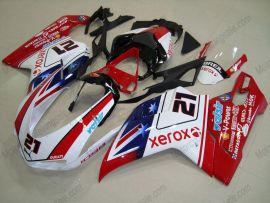 Ducati 848 / 1098 / 1198 2007-2009 Carénage ABS Injection - Xerox - rouge/blanc/bleu