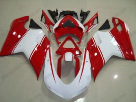 Ducati 848 / 1098 / 1198 2007-2009 Carénage ABS Injection - autres - blanc/rouge