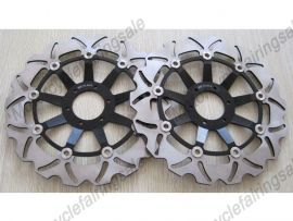 Honda RS250 CB400N CBR600F/400/900RR VFR750 VTR1000 disque frein avant du rotor - noir