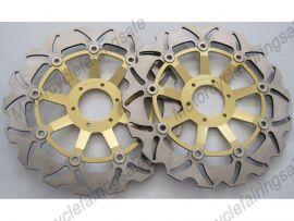 Honda RS250 CB400N CBR600F/400/900RR VFR750 VTR1000 disque frein avant du rotor - doré