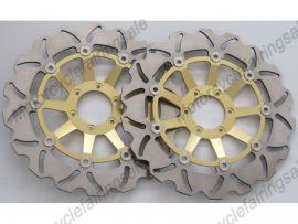 Honda CBR1100XX CBR1300 CBR1100 1999-2007 disque frein avant du rotor - doré