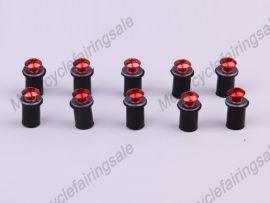 rouge 10 x moto universel pare-brise boulons vis