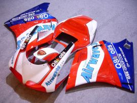 Ducati 748 / 998 / 996 Carénage ABS Injection - Airwaves - rouge/blanc/bleu
