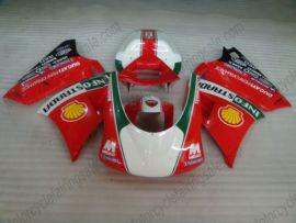 Ducati 748 / 998 / 996 Carénage ABS Injection - INFOSTRADA - rouge/blanc