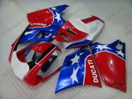 Ducati 748 / 998 / 996 Carénage ABS Injection - autres - rouge/bleu/blanc
