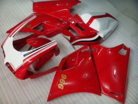 Ducati 748 / 998 / 996 Carénage ABS Injection - autres - rouge/blanc