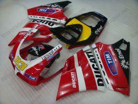 Ducati 748 / 998 / 996 Carénage ABS Injection - autres - rouge/blanc/noir