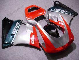 Ducati 748 / 998 / 996 Carénage ABS Injection - autres - argent/noir/rouge