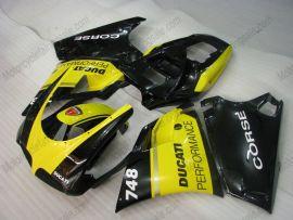 Ducati 748 / 998 / 996 Carénage ABS Injection - Performance - jaune/noir