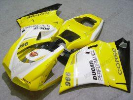 Ducati 748 / 998 / 996 Carénage ABS Injection - Performance - jaune/blanc