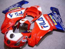 Ducati 749 / 999 2003-2004 Carénage ABS Injection - FILA - rouge/bleu