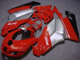 Ducati 749 / 999 2005-2006 Carénage ABS Injection - Factory Style - rouge/argent