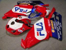 Ducati 749 / 999 2005-2006 Carénage ABS Injection - FILA - rouge/blanc/bleu