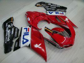Ducati 848 / 1098 / 1198 2007-2009 Carénage ABS Injection - FILA - blanc/rouge/noir