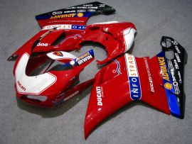 Ducati 848 / 1098 / 1198 2007-2009 Carénage ABS Injection - INFO STRADA - blanc/rouge/noir