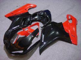 Ducati 848 / 1098 / 1198 2007-2009 Carénage ABS Injection - autres - noir/rouge
