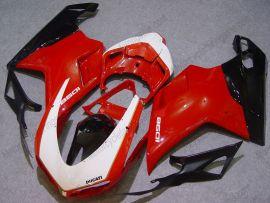 Ducati 848 / 1098 / 1198 2007-2009 Carénage ABS Injection - autres - rouge/noir/blanc