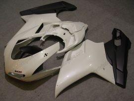 Ducati 848 / 1098 / 1198 2007-2009 Carénage ABS Injection - autres - blanc/noir