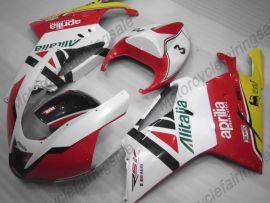 Aprilia RSV1000R 2004-2006 Carénage ABS Injection - Flame - blanc/rouge