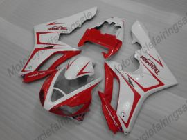 Triumph Daytona 675 2006-2008 Carénage ABS Injection - autres - blanc/rouge