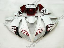 Yamaha YZF-R1 2002-2003 Carénage ABS Injection - Flame rouge - blanc