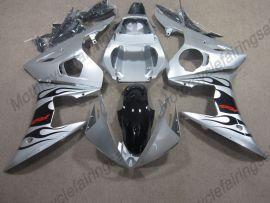 Yamaha YZF-R6 2003-2004 Carénage ABS Injection - Flame noir - argent