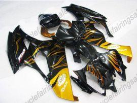 Yamaha YZF-R6 2006-2007 Carénage ABS Injection - Flame jaune- noir