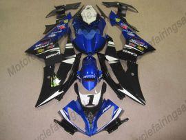 Yamaha YZF-R6 2008-2014 Carénage ABS Injection - autres - bleu / blanc / noir