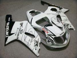 Suzuki GSX-R 1000 2000-2002 K1 K2 Carénage ABS Injection - Corona - blanc/noir