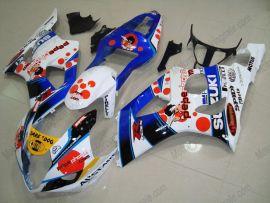 Suzuki GSX-R 1000 2003-2004 K3 Carénage ABS Injection - Dark Dog - blanc/bleu