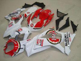 Suzuki GSX-R 1000 2007-2008 K7 Carénage ABS Injection - Lucky Strike - blanc/rouge
