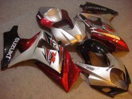 Suzuki GSX-R 1000 2007-2008 K7 Carénage ABS Injection - autres - argent/rouge