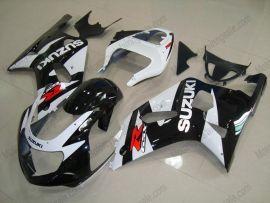 Suzuki GSX-R 600/750 2001-2003 K1 K2 Carénage ABS Injection - autres - noir/blanc