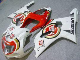 Suzuki GSX-R 600/750 2001-2003 K1 K2 Carénage ABS Injection - Lucky Strike - blanc/rouge