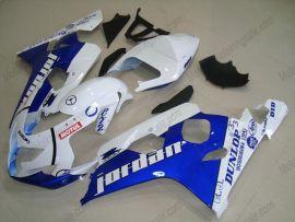 Suzuki GSX-R 600/750 2004-2005 K4 Carénage ABS Injection - Jordan - blanc/bleu