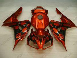 Honda CBR1000RR 2006-2007 Carénage ABS Injection - Flame - orange/doré/noir