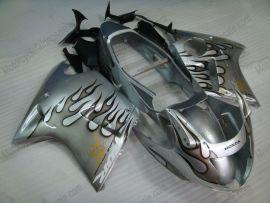 Honda CBR 1100XX BLACKBIRD 1996-2007 Carénage ABS Injection - Flame noir - argent