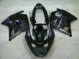 Honda CBR 1100XX BLACKBIRD 1996-2007 Carénage ABS Injection - Flame Purple - noir