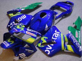 Honda CBR 600RR F5 2003-2004 Carénage ABS Injection - Movistar  - bleu/vert