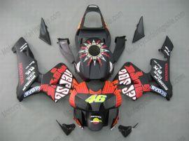 Honda CBR 600RR F5 2003-2004 Carénage ABS Injection - Rossi - noir/rouge