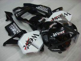 Honda CBR 600RR F5 2003-2004 Carénage ABS Injection - West - noir/blanc