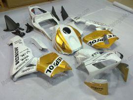 Honda CBR 600RR F5 2003-2004 Carénage ABS Injection - Repsol - doré/blanc