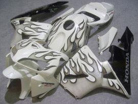Honda CBR 600RR F5 2005-2006 Carénage ABS Injection - Flame noir - blanc