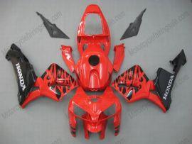 Honda CBR 600RR F5 2005-2006 Carénage ABS Injection - noir Flame  - rouge/noir