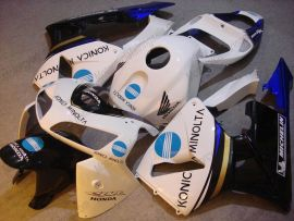 Honda CBR 600RR F5 2005-2006 Carénage ABS Injection - Konica Minolta - blanc/noir/bleu