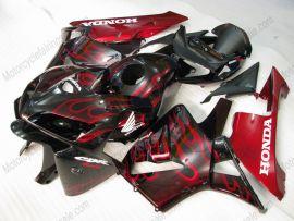 Honda CBR 600RR F5 2005-2006 Carénage ABS Injection - Flame rouge - noir