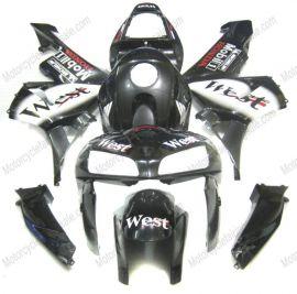 Honda CBR 600RR F5 2005-2006 Carénage ABS Injection - West - noir/blanc