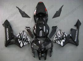 Honda CBR 600RR F5 2005-2006 Carénage ABS Injection - Flame blanc  - noir
