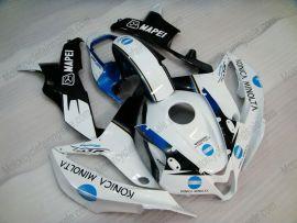 Honda CBR 600RR F5 2007-2008 Carénage ABS Injection - Konica Minolta  - blanc/noir