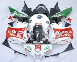 Honda CBR 600RR F5 2007-2008 Carénage ABS Injection - San Carlo  - blanc/noir/rouge